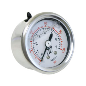 FPR GAUGE 0-100PSI - LIQUID FILLED